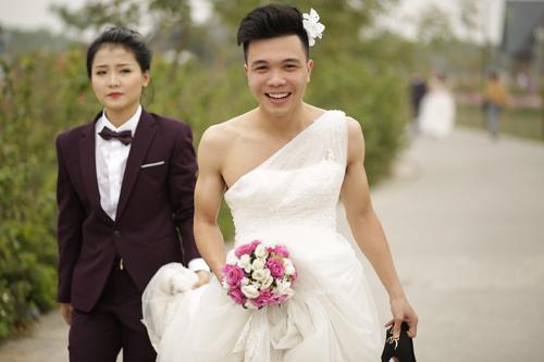 Ảnh cưới độc đáo: Cô dâu chú rể hoán đổi giới tính - 6