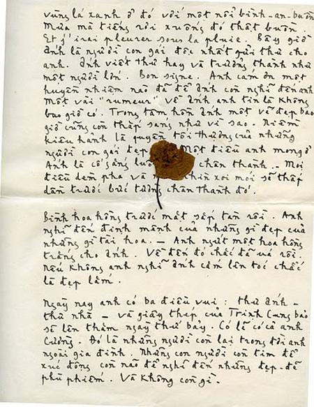 300 trang thư Trịnh Công Sơn gửi tình đầu - 2