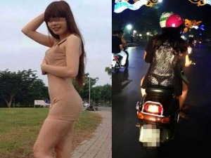 """Thời trang - Đỏ mặt với váy áo """"mặc mà như không"""" trên phố Việt"""