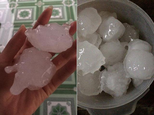Mưa đá ở Chiêm hóa Tuyên Quang - 1