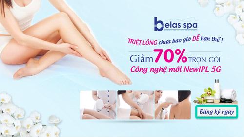 Belas Spa khuyến mãi đến 70% phí làm đẹp nhân dịp lễ 30/4 - 1