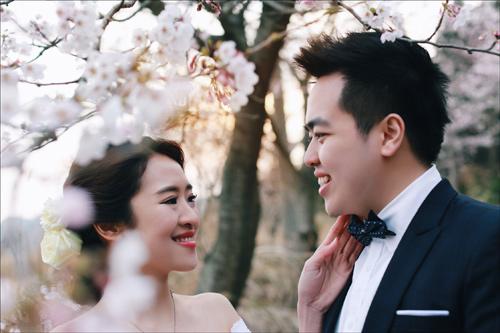 Ảnh cưới bên hoa anh đào Hàn Quốc mê hoặc giới trẻ - 3