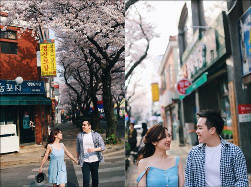 Ảnh cưới bên hoa anh đào Hàn Quốc mê hoặc giới trẻ - 5