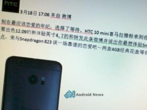 HTC 10 Mini có màn hình 4,7 inch, chipset Snapdragon 823