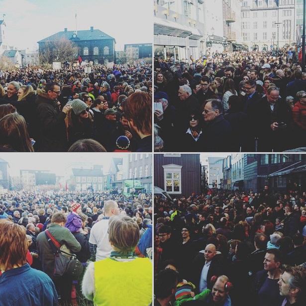 Dân phẫn nộ xuống đường đòi Thủ tướng Iceland từ chức - 2