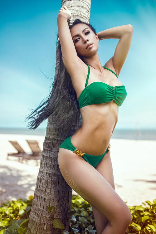 MC 3 con Huyền Ny khoe dáng chuẩn với bikini - 11
