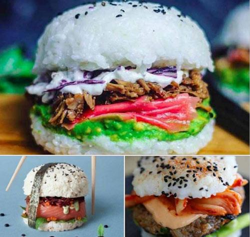 """Giới trẻ """"phát sốt"""" với burger nhân sushi kiểu mới - 4"""