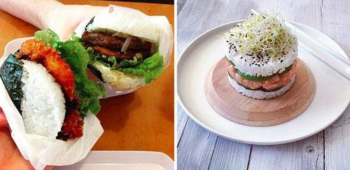"""Giới trẻ """"phát sốt"""" với burger nhân sushi kiểu mới - 6"""