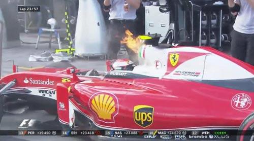 """F1 - 2 chặng, 2 xe bỏ cuộc: """"Tử huyệt"""" của Ferrari - 1"""