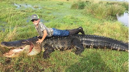 Bắt cá sấu nặng gần 300 kg ngay trong ao nhà - 1