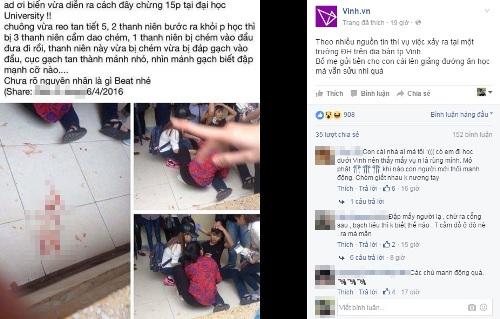 Hai sinh viên ĐH Vinh bị hành hung ngay trong trường - 3