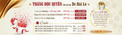 """Khởi động """"Tháng độc quyền"""" ưu đãi tới 55% tại Dr.Hải Lê - 1"""
