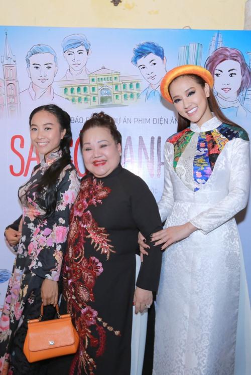 Maya, Đoan Trang điệu đà diện áo dài xưa ra mắt phim mới - 8