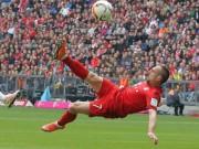 Bóng đá - Ribery bắt vô-lê tuyệt mĩ đẹp nhất vòng 28 Bundesliga
