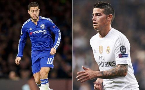 """""""Bom tấn"""" của Real-Chelsea: Hazard và James đổi chỗ - 1"""