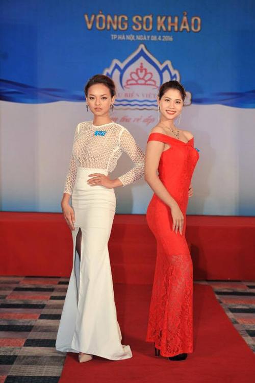 """Quỳnh Mai """"siêu vòng 3"""" tái xuất ở Hoa hậu Biển VN - 3"""
