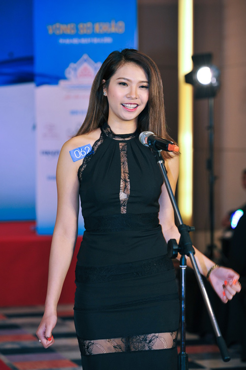 """Quỳnh Mai """"siêu vòng 3"""" tái xuất ở Hoa hậu Biển VN - 6"""