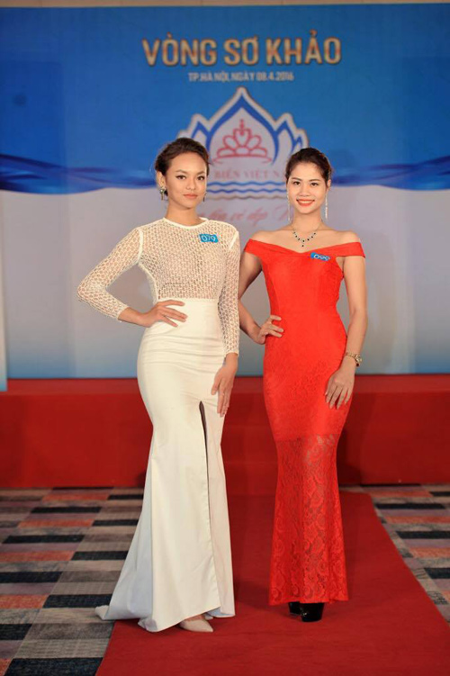"""Quỳnh Mai """"siêu vòng 3"""" tái xuất ở Hoa hậu Biển VN - 4"""