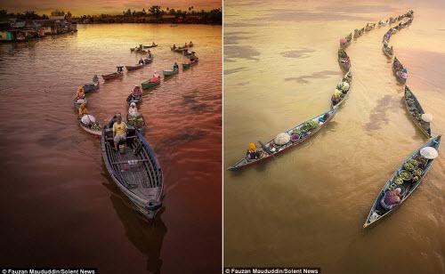 Khám phá chợ nổi trên sông ở Indonesia - 2