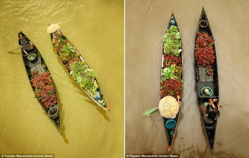 Khám phá chợ nổi trên sông ở Indonesia - 4