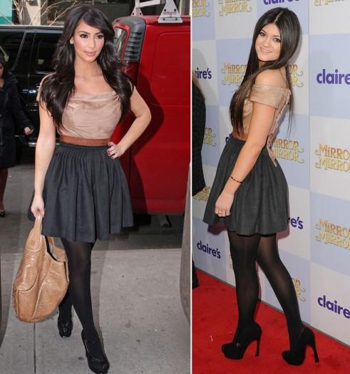 Em út cô Kim Kardashian chuyên mặc lại mốt của chị - 6