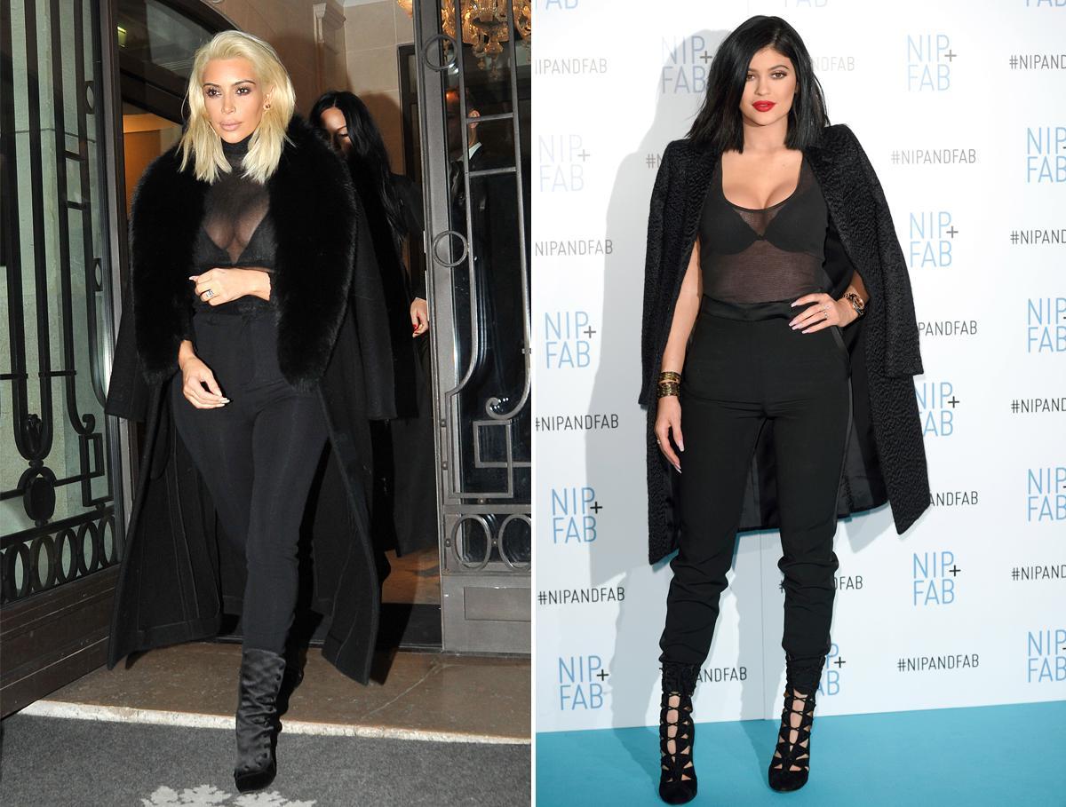 Em út cô Kim Kardashian chuyên mặc lại mốt của chị - 5