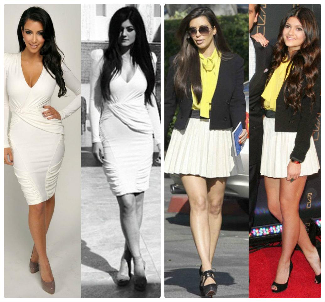 Em út cô Kim Kardashian chuyên mặc lại mốt của chị - 7