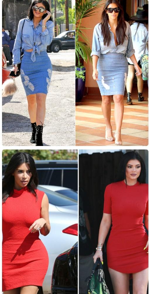Em út cô Kim Kardashian chuyên mặc lại mốt của chị - 15