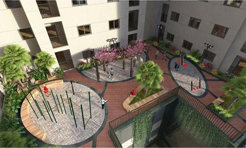 Lộ diện thiết kế cảnh quan nội khu dự án Hateco Hoàng Mai - 3
