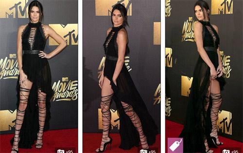 Kendall Jenner vất vả vì đôi sandal sexy, phiền toái - 1