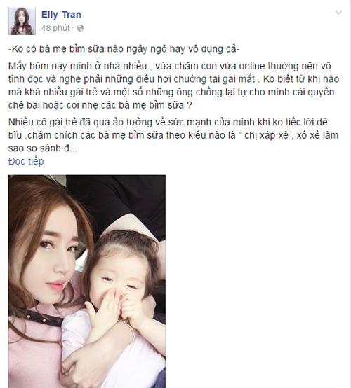 """Elly Trần: """"Không có mẹ bỉm sữa nào vô dụng"""" - 1"""
