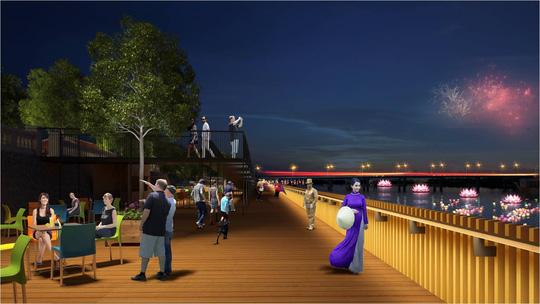 Huế sẽ làm đường đi bộ lát gỗ ngoài trời dọc sông Hương - 1