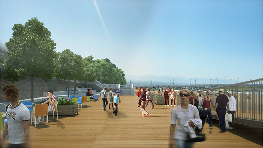 Huế sẽ làm đường đi bộ lát gỗ ngoài trời dọc sông Hương - 4