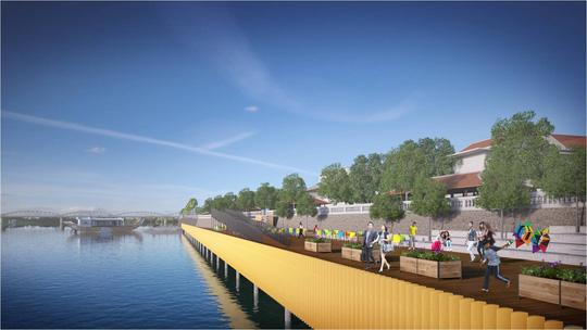 Huế sẽ làm đường đi bộ lát gỗ ngoài trời dọc sông Hương - 5