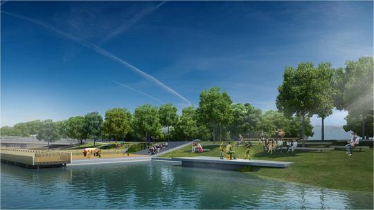 Huế sẽ làm đường đi bộ lát gỗ ngoài trời dọc sông Hương - 6