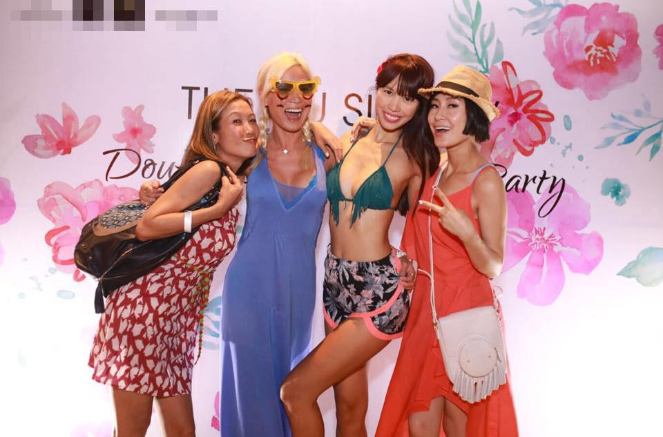 Chị em Hà Anh mặc bikini gợi cảm dự tiệc bên bể bơi - 6