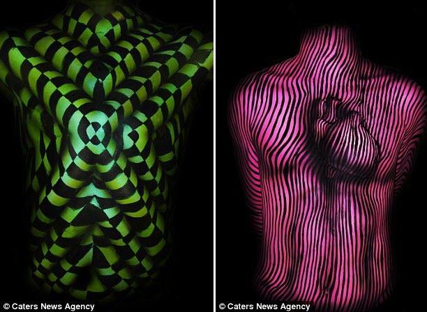 Kinh hãi với những bức tranh 3D trên cơ thể - 3