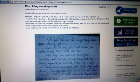 Học sinh gửi tâm thư, lãnh đạo Đà Nẵng giải quyết ngay - 1