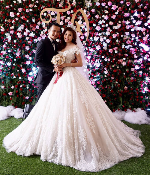 Thúy Diễm xinh như công chúa trong ngày làm cô dâu - 3