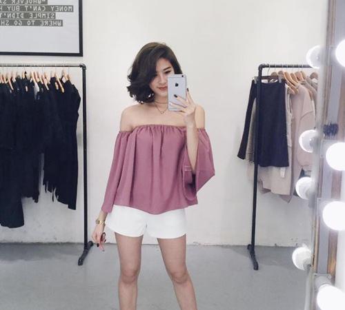 Thiếu nữ Việt mặc áo trễ vai thế nào? - 11