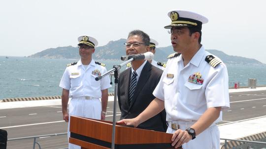 Hai chiến hạm hàng đầu Nhật Bản cập cảng Cam Ranh - 1