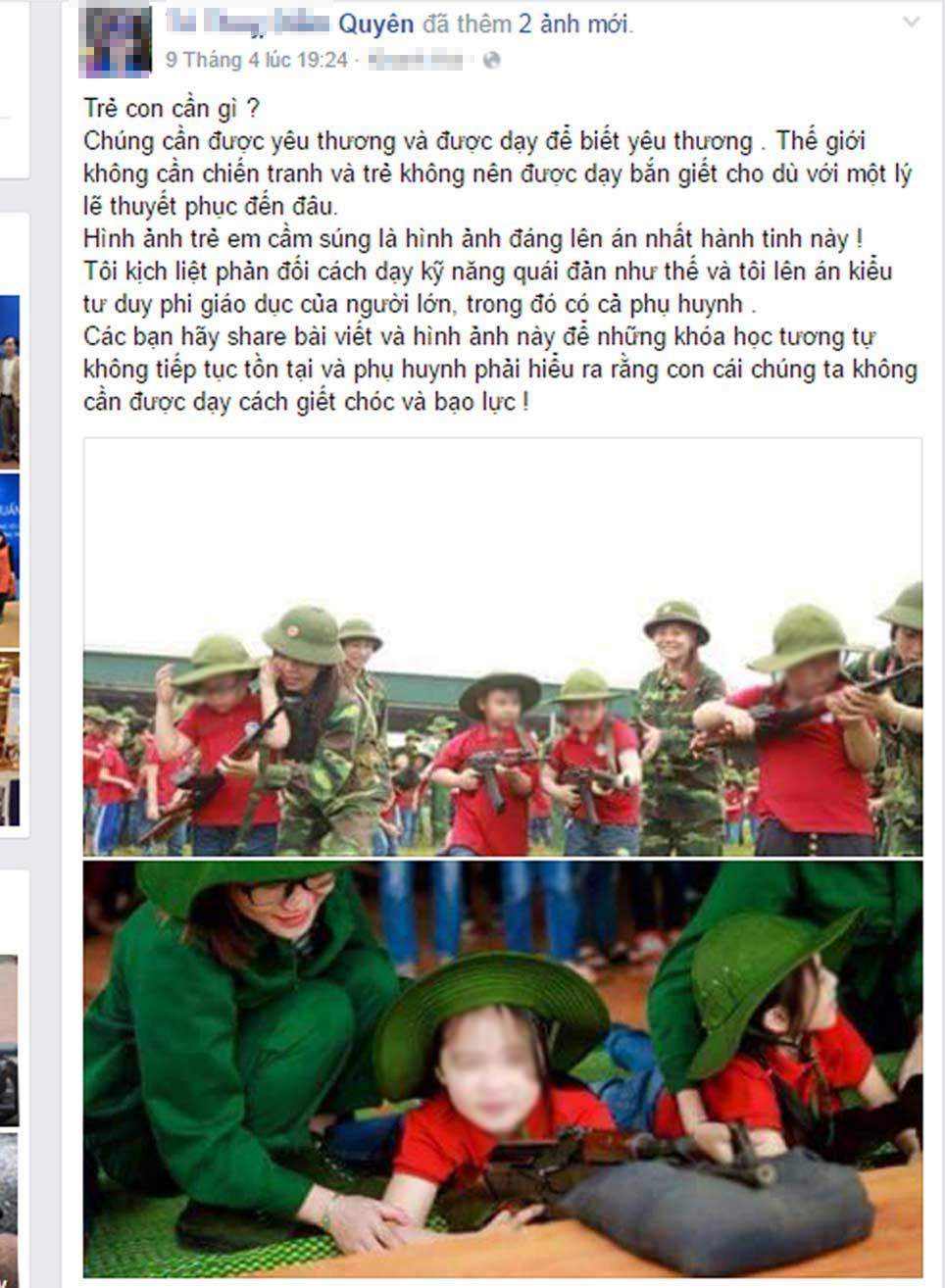 Sốc với hình ảnh dạy học sinh tiểu học cầm súng - 1