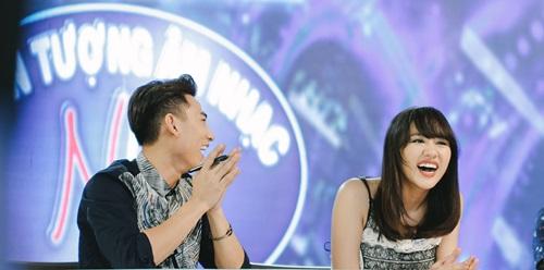 Văn Mai Hương trẻ trung bên Isaac chấm thi Vietnam Idol Kids - 2