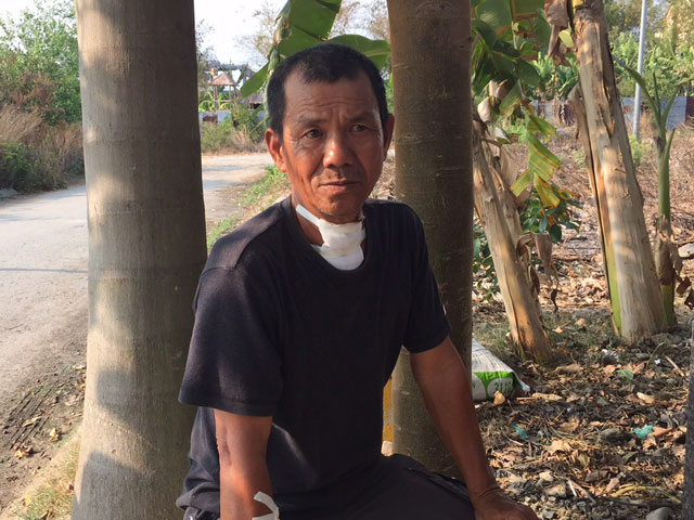 Nghi án tài xế xe ôm bị cắt cổ giữa ban ngày tại TPHCM - 1