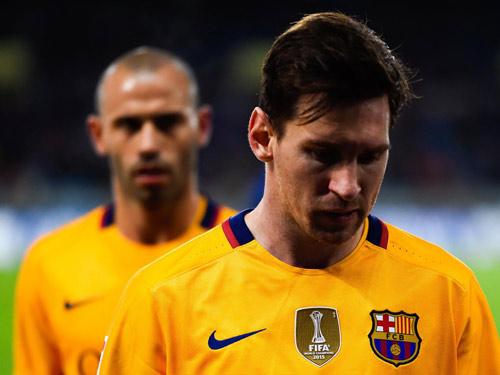 """Chùm ảnh: Barca """"sa lầy"""" ở Vicente Calderón - 6"""