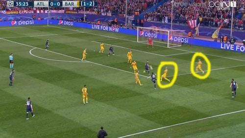 """Góc chiến thuật Atletico - Barca: """"MSN"""" bị khóa chặt - 6"""