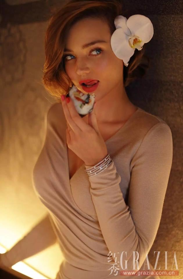 Miranda Kerr đầy mê hoặc với nội y và váy trong suốt - 7