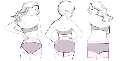 5 dáng mông của phụ nữ - 1