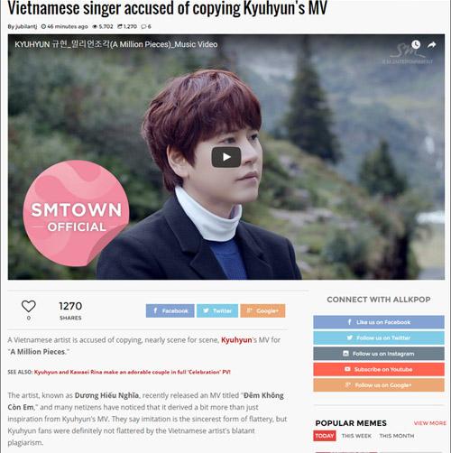 Ca sỹ Việt bị báo Hàn tố đạo nhái Super Junior - 1