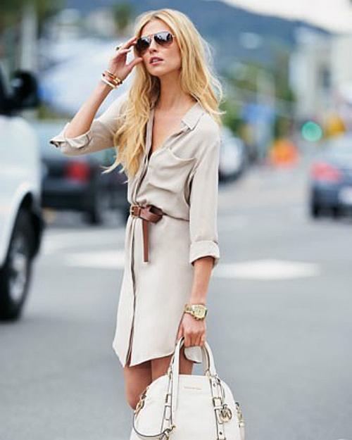 Váy sơ mi: Đẹp từ công sở đến đường phố - 4
